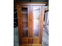 Glass display cabinet with drawers. FREE DELIVERY