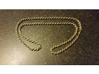 9CT GOLD PLATED ON SILVER LONG ROPE CHAIN