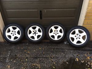 4 Michelin X-Ice Winter Tires with Audi A3 Rims