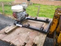Quad logic frame with honda engine from a fertiliser spreader