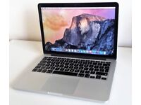 **APPLE MACBOOK PRO RETINA 13.3 - MID 2014 - 2.8GHZ I5 256GB SSD 8GB RAM - MGX82B/A A1398 LAPTOP**