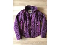 NEW LOOK Women's Plum Quilted Jacket * Size 8