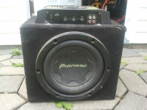 subwoofer pioneer 10po pour voiture + AMP 450 watts