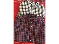 X2 long sleeved men's checked shirts size XL
