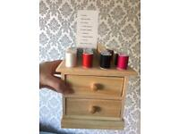 Sewing Kit Mini Wooden Drawer Unit