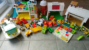 Lot fisher price vintage little people
