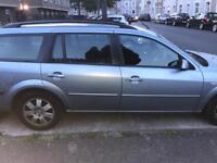 Blue Ford Mondeo Estate 2.0, 2006, 122674 miles, cruise control, good tyre treads, 9 months MOT