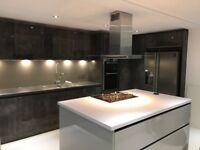 Brand new Kitchen splashback panel pewter