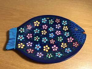 Pottery plate from Nepal with fish design