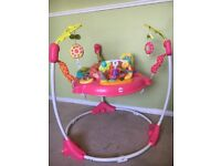Pink fisher-price jumperoo