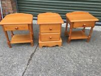 Full set of matching bedroom furniture