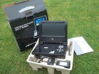 Portable DVD player, 7 inch screen, new and boxed