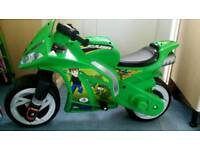 Ben 10 electric motorbike with charger