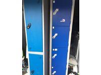 Two tall metal Lockers
