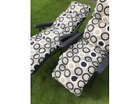 Garden furniture reclining lounger chairs pair