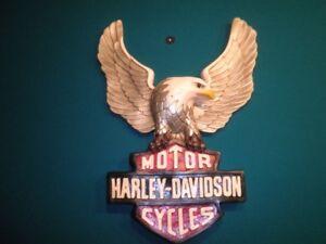 Harley Davidson Eagle and Shield Sign.