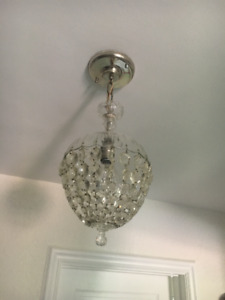 Glass antique chandelier from our 1930s home