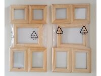 Brand New Mini Wooden Frames [Ideal for small crafts, projects, scrapbooking etc]