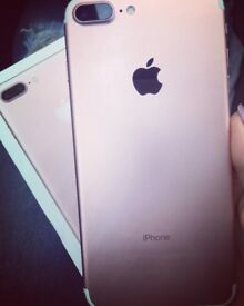 Iphone 7 Plus rose gold.