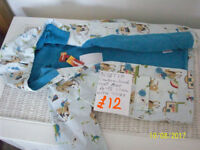 CHILDS ALBETTA COWBOYS AND INDIANS LINED OILCLOTH COAT, AGE 4-5 YEARS.NEW WITH TAG