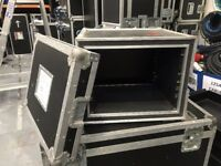 8u rack mountable flight case with handles
