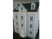 Collectors Dolls House with Dolls House Emporium Furniture, some lights, dishes