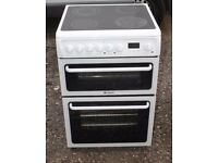 6 MONTHS WARRANTY Hoptoint HAE60 60cm, double oven electric cooker FREE DELIVERY