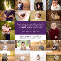 Save $50 on Your Photography Session in Oct., Nov., Dec.