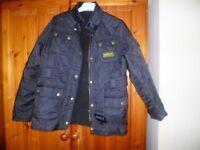 Barbour jacket kids blue