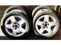4 Alloy Wheels and tyres for Audi A4 VW Passat Alloy
