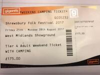 SHREWSBURY FOLK FESTIVAL WEEKEND TICKET