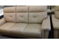 Cream / Beige. LEATHER Settees, Sofa, Suite. Local Delivery....