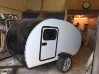 Teardrop camper trailer caravan pod.