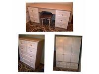quality bespoke bedroom furniture set recently resprayed