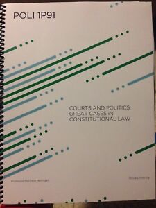 Poli 1p91 Courts and politics: Great cases in constitutional law