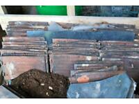 Reclaimed (and some new) Rosemary Roof Tiles including hip tiles