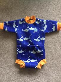 Splash about happy nappy wetsuit, size medium (14-25lbs). UPF50+