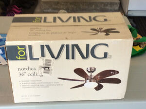 "36"" NORDICA CEILING FAN"