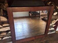 Solid Walnut Mirror - Never used!