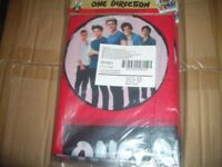 One Direction Plastic Table Cloths.Box of 120. Brand New Sealed.Official License