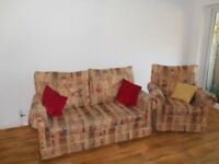 Three seater sofa & chair to match Made by Rouse of Cheltenham