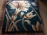 Large painted flower canvas