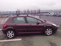 2006 Peugeot 307 1,6 litre diesel 5dr 1 owner FSH