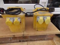 2 x 110 transformers 3kva £30 each or both for £50