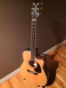 1992 Takamine EG 334c electric/acoustic guitar