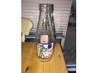 Vintage coop glass milk bottle pink panther Andrews