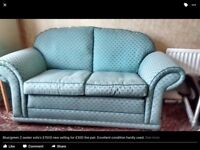 Two 2 seater sofas, hand make by Coloral
