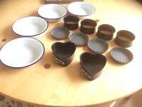 Individual Baking tins and moulds set.