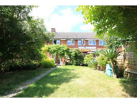 Newly refurbished 3-bed Winchester house with large modern kitchen & living room, pond, shed & vines