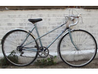 Vintage racing ladies bike RALEIGH WISP hand built frame size 20in - 5 speed NEW TYRES , serviced